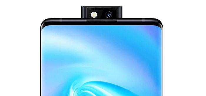 Frontal con cámara emergente del Vivo NEX 3