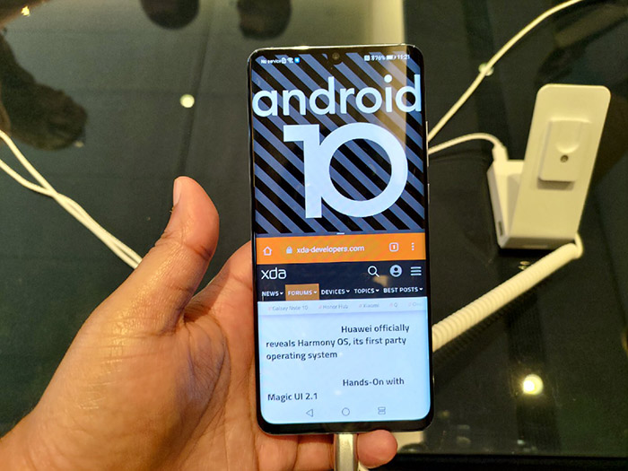 Móvil con Android 10