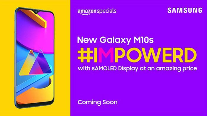 Cartel anunciandor del Galaxy M10s