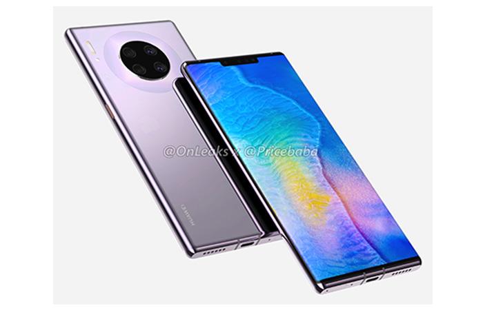 Frontal y trasera del Huawei Mate 30 Pro en diagonal