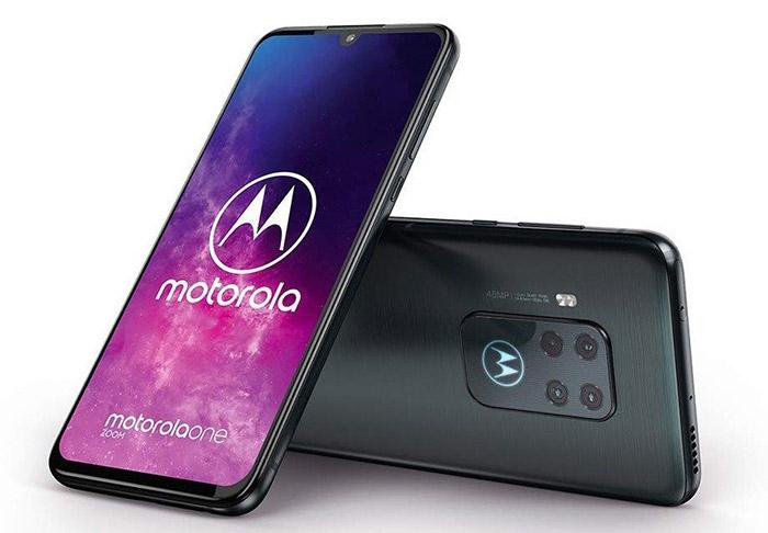 Frontal y trasera del Motorola One Zoom