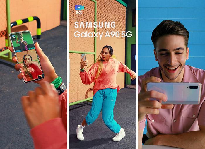 Imágenes promocionales del Galaxy A90 5G