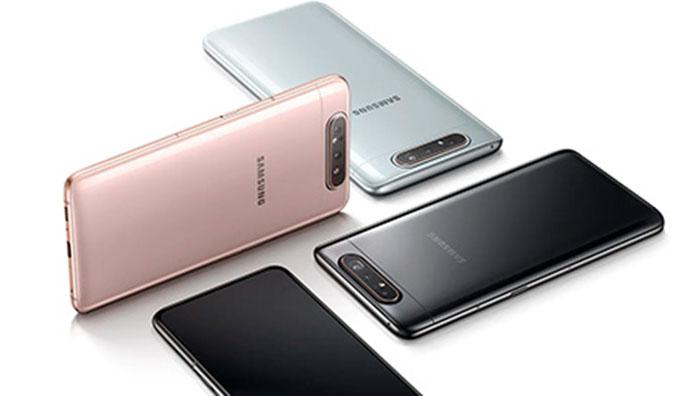 Trasera en varios colores del Galaxy A80