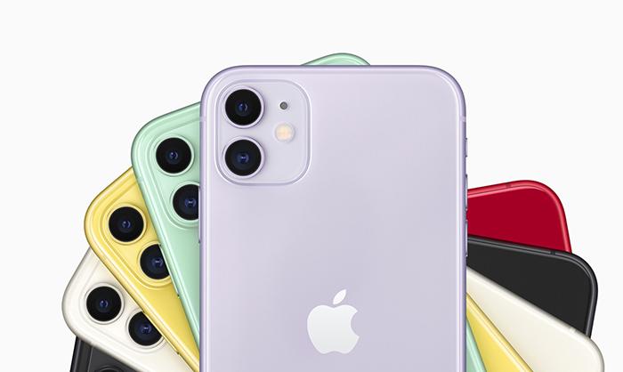 Trasera en varios colores del iphone 11
