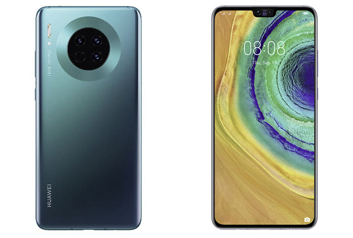 Frontal y trasera del Huawei Mate 30