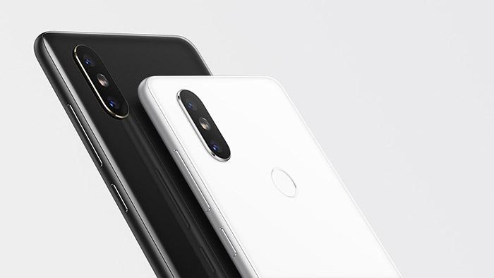 Trasera del Xiaomi Mi Mix 2s en blanco o negro