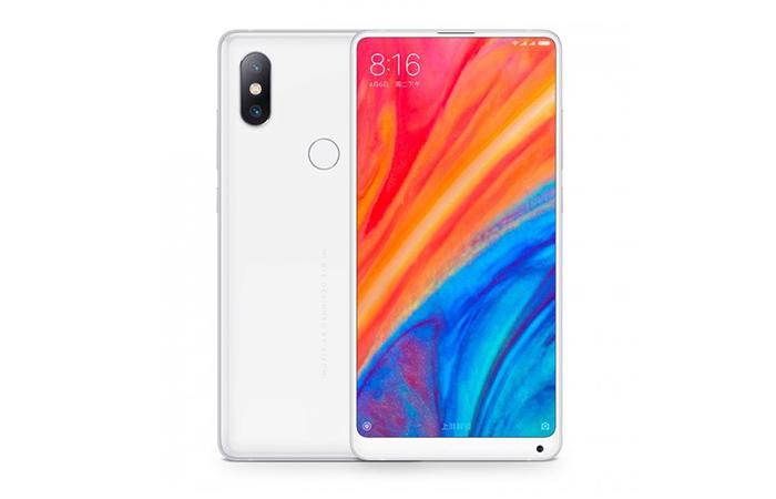 Frontal y trasera del Xiaomi Mi Mix 2s en blanco