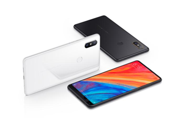 Xiaomi Mi Mix 2s en colores blanco y negro