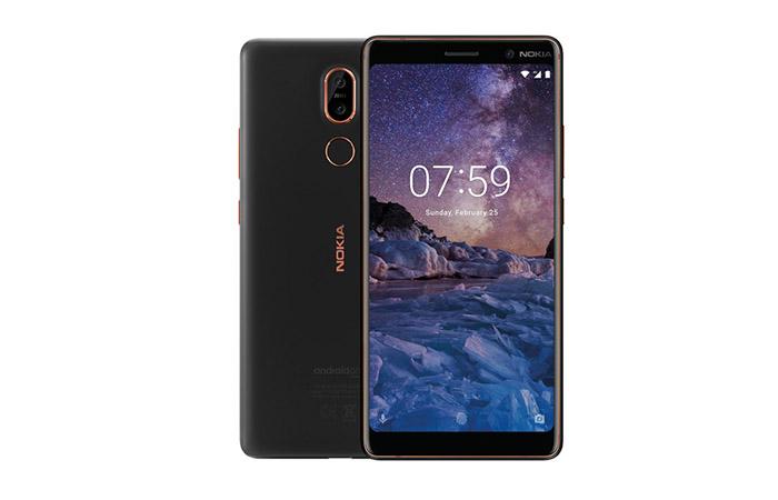 Frontal y trasera del Nokia 7 Plus