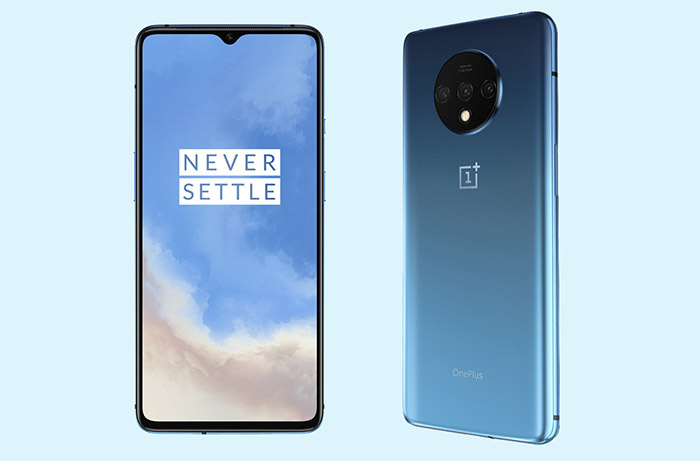 Frontal y trasera del OnePlus 7T