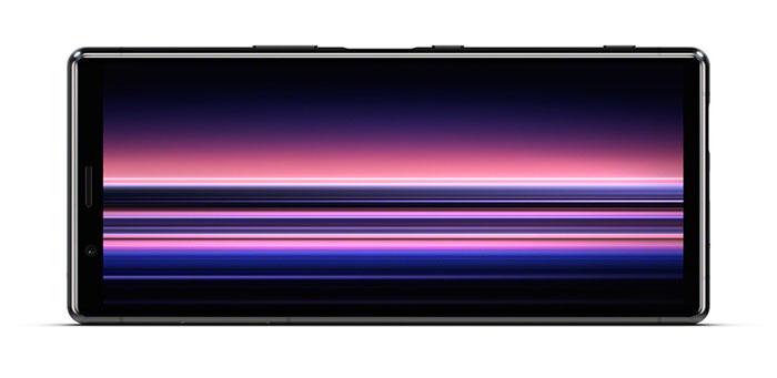 Frontal en vertical del Sony Xperia 1